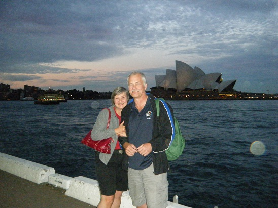 me and Leon in front of Opera House
