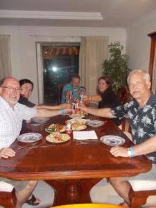 family dinner last night - cheers!