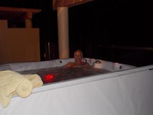 Hot tub before bed - yes, we love to sit in the hot tub!