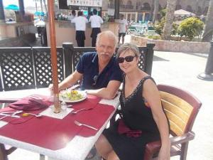 lunch on the terrace - happy endings