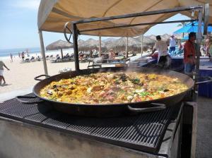 paella poolside