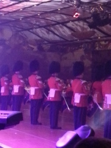 GG Foot Guard Band - notice the bearskin hats like at Buckingham Palace.