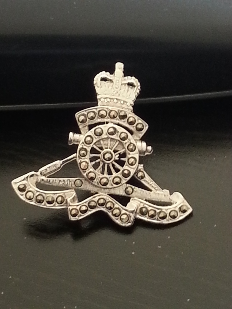 The regimental broach - marchasite on silver