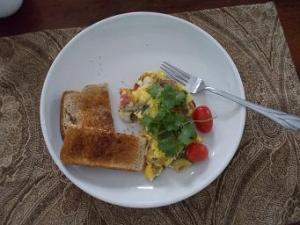 Started off the weekend with a great frittata.  Yum!