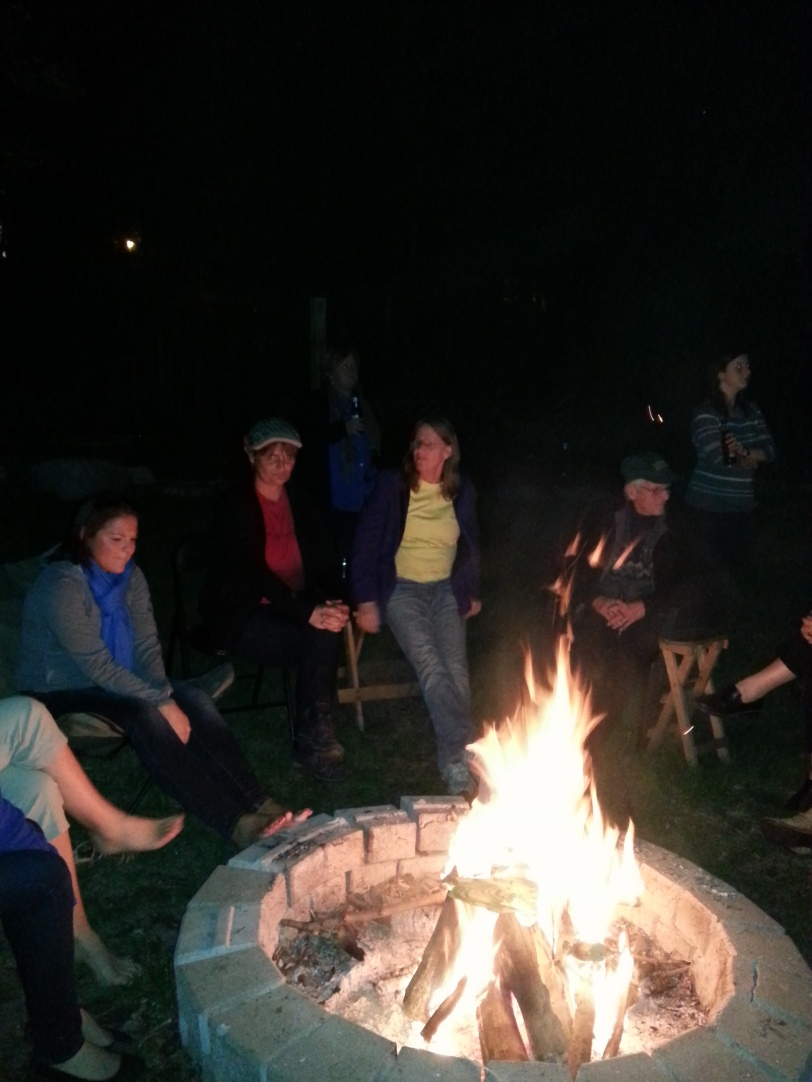 Campfire with some really nice Aussies - Kendall and Jo