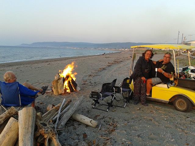 Didi and Francis at the bonfire.