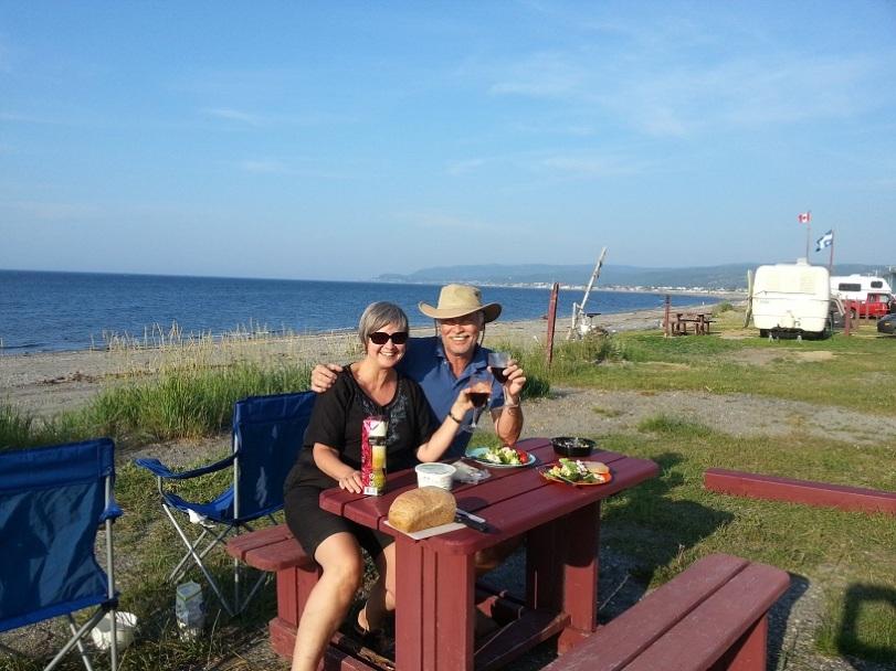 dinner on beach at ste anne
