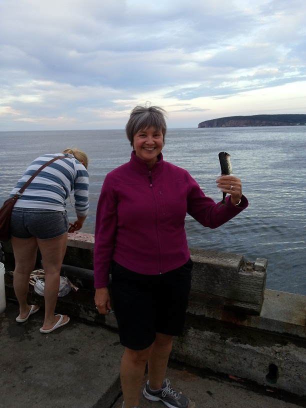holding mackerel
