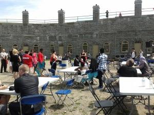new immigrants at Levis fort