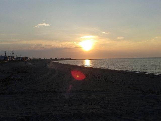 sunset Ste Anne des Monts