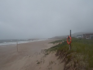 sillons beach during storm