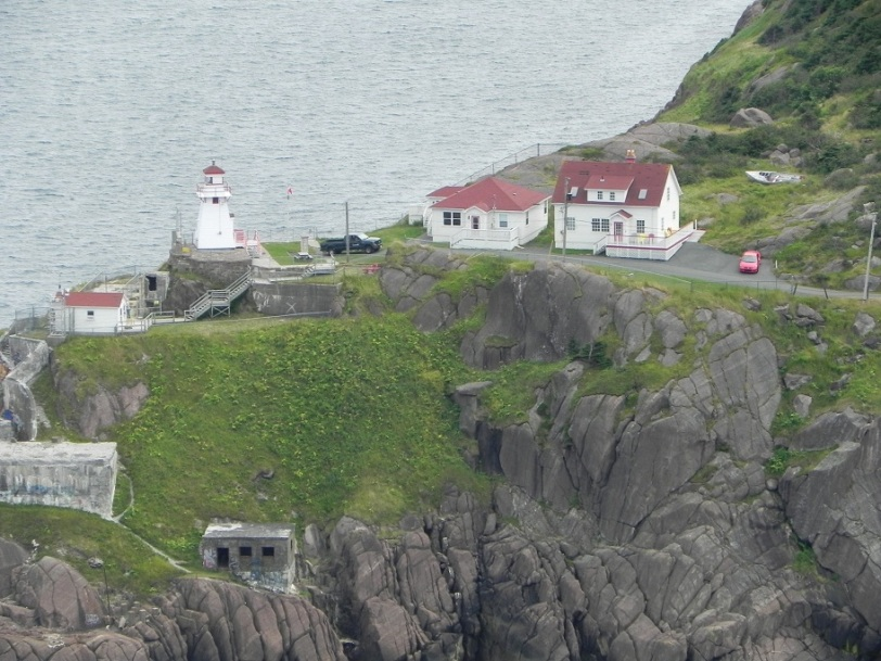 across from the Cabot Tower - Fort Amherst?