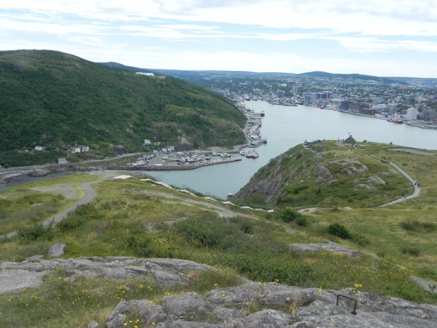 St. Johns Harbour, which is really very small and narrow to get through.