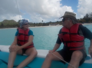 Leon and I chatting as we sailed along.