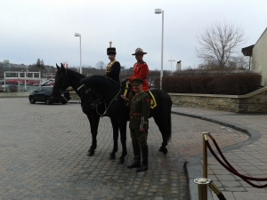 Royal Canadian Hussars and RCMP horses