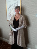 My vintage outfit consisted of a coat, opera length gloves and a matching bag.
