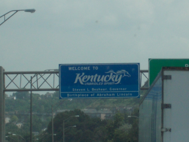 We drove so far south through Ohio to Indiana that we passed into Kentucky.