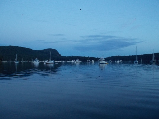 Montague Harbour late evening