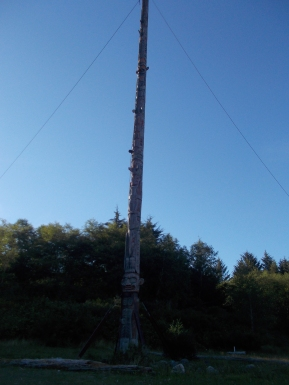 The world's highest totem, only 1/2 of it.
