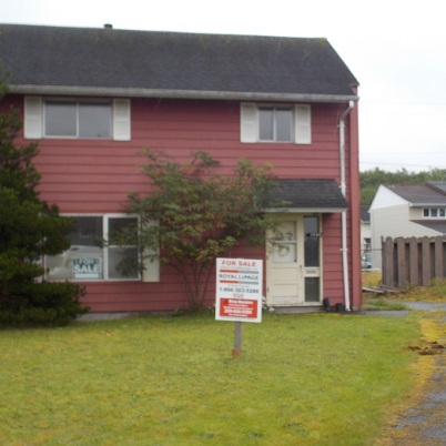 This one is for sale. Typical duplex around the former base.