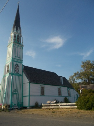 The old church in the town of Ft. St. James