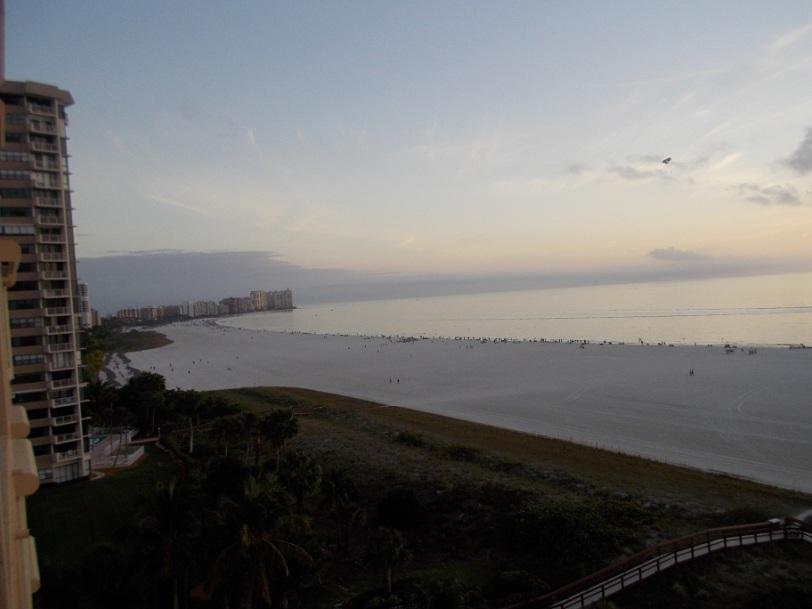 sunset crescent beach