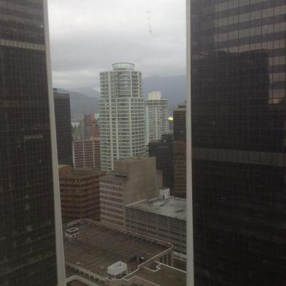 The view from our hotel room