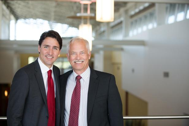 Leon Jensen & Justin Trudeau