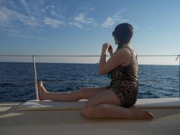 ari on boat