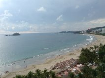 ixtapa beach from our room