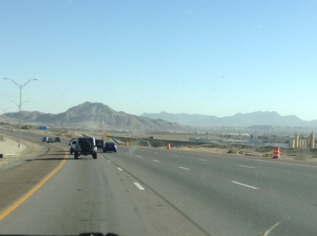 driving into Las Cruces