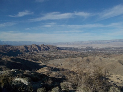 palm springs from above