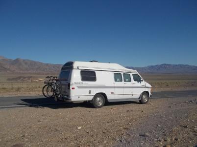roadie in Death Valley