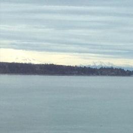 Mt. Baker on the left