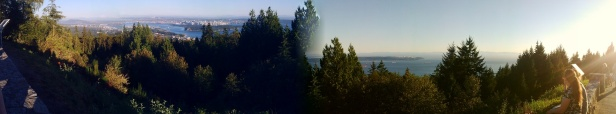 panorama from Cypress Mountain