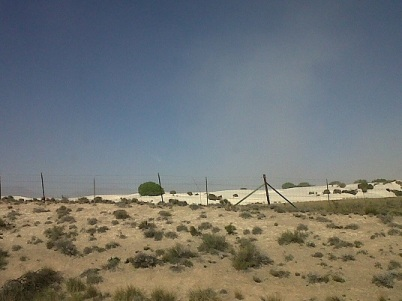 the white cloud is really dust blowing.