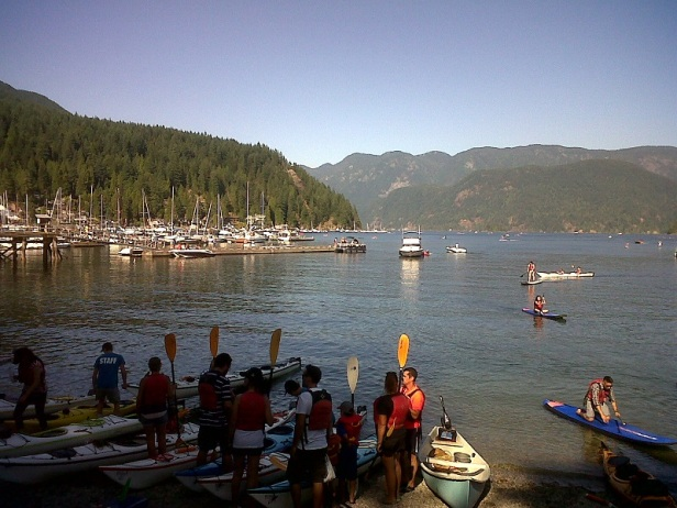 deep cove kayak lesson