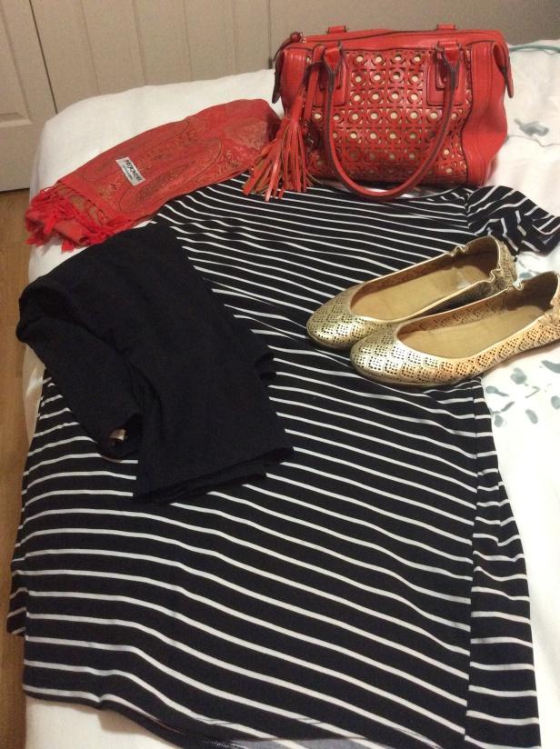 dress and leggings