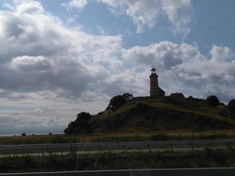 lighthouse on bridge from Jutland to Zealand